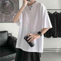 Hybskr Summer Man T-shirts Manches courtes Couleur Solide Couleur Casual T-shirt T-shirt Hommes Harajuku Hip Hip Hop's Vêtements Tops Tee 210707