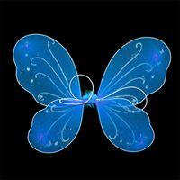 子供ハロウィーンパーティーコスプレカラフルなユニセックス大人の子供羽妖精ドレスアップダンスパフォーマンスコスチューム小道具10色4757 Q2