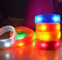 Music Activated Sound Control Led Party Flashing Bracelet Light Up Bangle Wristband Club Festive Bar Cheer Luminous Hand Ring Glow DWA9090