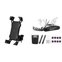 Car & Truck Racks Aluminum Alloy Bicycle Handlebar Phone Holderwith Cycling Mechanic Repair Tool Kit
