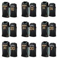 Jersey Özel Baskılı Erkekler Ja Morant Jaren Jackson Jr. Dillon Brooks 2021 Swingman Şehir Basketbol Formaları Siyah Üniforma