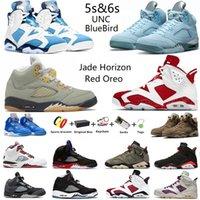 Air Jordan Jumpman 6s Red Oreo 5 Jade Horizon scarpe basket uomo 5s Racer Blue Bluebird Raging Bull 6 UNC Electric Green Bordeaux Gold Hoops Hare sneakers sportive uomo con scatola