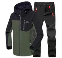 L-6xl hombres invierno impermeable pez chaquetas al aire libre traje traje de senderismo pantalón camar trepar skiing pantalones vellece sharkskin granize1