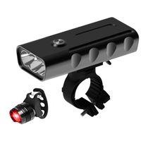 Luzes de bicicleta Abgz-bicicleta Conjunto, luzes de bicicleta recarregáveis, ciclo 2400 lumens, ipx5 luzes impermeáveis, faróis para bicicletas