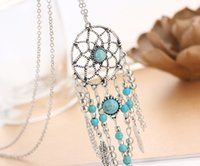 Feather Tassel Necklaces Bohemian Statement Necklace Jewelry Bohemia Turquoise Necklace