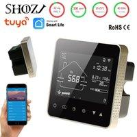 Control de hogar inteligente SHOJZJ WIFI RS485 Detector Modbus VOC TEMP Humedad y CO2 PM2.5 Sensor para ventilador Tuya App Monitoreo remoto 4 en 1