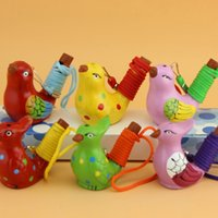 Ceramic Water Bird Whistle Spotted Warbler Song Chirps Home Decoration For Children Kids Gifts Party Favor ju0665 1502 T2
