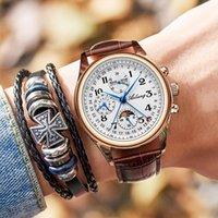 Montres-bracelets The Ailang Top Mécanique Montre Mécanique Phase de lune Multi-fonction Style d'affaires imperméable