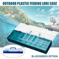 Detachable Fishing Tackle Boxes Organizer Double Layers Plastic Lure Bait Hooks Storage Box Accessories