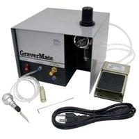 Outils pneumatiques Machine de gravure à tête unique Machine à bijoux en cuivre Manuel Micro Inlay 110v / 220V