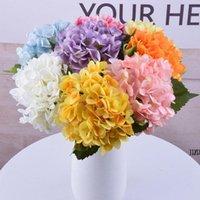 47cm artificial hydrangea Decorative Flowers head 19cm fake silk single real hydrangeas for Wedding Centerpieces AHB7053