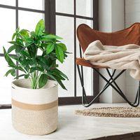 Storage Bags Hand-woven Garden Plant Basket Cotton Rope Art Bucket Home Decoration Flower Pot Planter Hangers