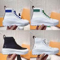2021 Diseñador de lujo Mujer Squad Casual Sports Zapatos Deportes Classic Plataforma de algodón Zapatillas de deporte Sneaker Chunky Pisado Suela exterior Zapato Zapato Altura Altura Top Botas de lona para mujer