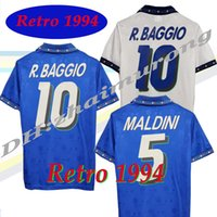 1994 레트로 버전 이탈리아 홈 멀리 축구 유니폼 94 R. Baggio Maldini Roberto 오래 된 칼시 시각 셔츠 국립 대표팀 축구 유니폼