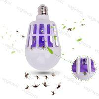 LED 전구 모기 킬러 110V 220V 15W 복도 발코니 주방 침실 UV 트랩 플라스틱 PC 커버 높은 밝기 SMD2835 DHL