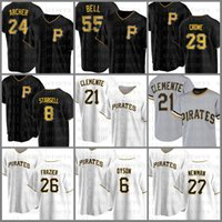 21 Roberto Clemente Baseball Jersey 피츠버그 맞춤형 해적 8 Willie Stargell 55 Josh Bell Starling Marte Chris Archer Kent Tekulve White