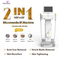 Easy for transport fractional rf microneedle equipment fine lines remove acne scars reduce stretch marks loss micro needle derma roller laser machine