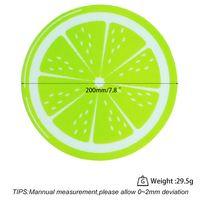 Neue Runde Silikon Wachs DAB MAT Silikon Tupfer Matte Zitronengestaltung Antihaft Dabber Bleche DAB Pad Für Trockenkräuter Wachsöl Gwe6322