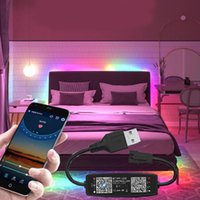 Strips 5V USB Bluetooth-compatible Smart Phone APP Control Addressable RGB WS2812B Led Strip Light For Room TV Backlight Kitch Indoor