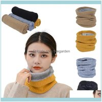 Sports Outdoors Protective Gear Caps & Masks Men Women Knitted Scarf Warm Knit Circle Thick Veet Thicken Cycling Scarves Outdoor Ski Climbin