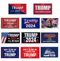 Free STOCK DHL 3*5 FT Trump Flag 2024 Election Flags Donald The Revenge Tour 150*90cm Banner BJ28