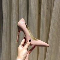 Scarpe da donna in fondo rosso scarpe moda tacchi alti 8 cm 10 cm 12 cm punta a punta pompe nero bianco rosa giallo verde claret di caretto matrimonio