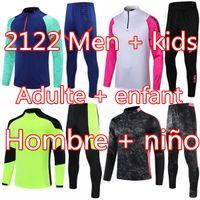 2021 Männer + Kinder Jogging Football Training Trainingsanzug Kits 2122 Real Madrid Überlebensfuß Fußball Chandal Futbol Chándal Sportswear