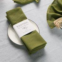 Набор из 12 упаковок 45x45см прочный ткань салфетки поли хлопчатобумажная ткань ткачество многократный обеденный стол кухня обеда для украшения свадьбы салфетка