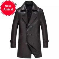 Giacca in pelle genuina 2021 MT839 Uomo Slim Fit Style Luxury Collar Collar Maschio Abiti per Giacche da uomo di pecora