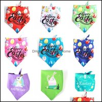 Apparel Dog Pet Supplies Home & Gardenpets Kerchief Dog Cat Bandana Happy Easter Triangle Bibs For Medium Large Dogs Drop Delivery 2021 Doox