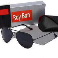 جودة عالية الرجال النساء النظارات الشمسية خمر الطيار نظارات الشمس الفرقة uv400 مع مربع والحالة 025