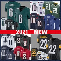 8 Kyle Pitts 22 Najee Harris 6 Devonta Smith American Football Jersey 10 Mac Jones 1 Kadarius Toney 11 Micah Parsons 21 Eric Stokes 2021 초안 유니폼