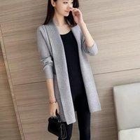Womens Winter Open Front Cardigan Ladies Long Trench Coat Loose Jacket Outwear Women's Knits & Tees