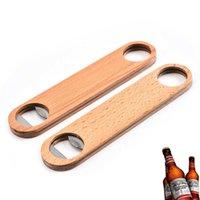 Nowy dom drewniany uchwyt stali nierdzewnej stałe trwałe napoje pić piwo otwieracz do butelek Creative kuchnia