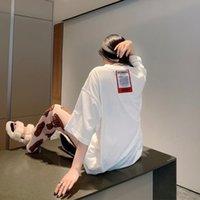 Trendy Vetements Kısa Kollu T-Shirt Gevşek Wittermong Mektubu Kırmızı Unisex
