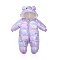 Baby Rompers Winter Newborn Down Coat Bodysuits Infant Babies Clothes Girls Boys Jumpsuit Hooded Kids One Piece Clothing Toddler Outwear Keep Warm B8782