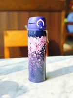 새로운 스타 벅스 나이트 사쿠라 스테인레스 스틸 진공 컵 보라색 벚꽃 텀블러 커피 컵 550ml 컵