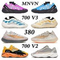 2021 최신 최고 품질 Kanye 700 Sun MNVN 신발 380 웨스트 크림 V1 V2 V3 EREMIEL VANTA 정적 남성 여성 스포츠 디자이너 신발 운동화