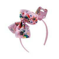 Unicornio Diadema Baby Girl Jojo Siwa Arcos Baby Cheerleader Headbands 6 pulgadas Headbands Unicorn Accesorios 6 Colores Suministros de fiesta 520 K2