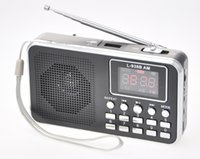 black Portable FM AM Radio USB TF card MP3 Player LED Flashlight Elder Speakers For Old Parents