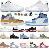 Chaussures de basket-ball pour hommes 1 1s University Blue Hyper Royal Neutral Grey 4 4s White Oreo Sail 12 12s Low Easter 11 11s Bright Citrus 6 6s Trainers Jumpman Sneakers