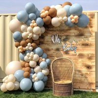 Party Decoration 1 Set Brown Coffee Blue Balloon Garland Arch Kit Baby Shower Birthday Theme Decorations