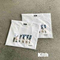 High Street Brand KITH French Limit Subtitles Photo Print Oversized T-shirt Streetwear Y2k Men's T-shirt Women's T-shirt Anime