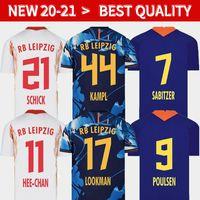 20 21 NUEVO Jerseys de fútbol en el hogar Tercer Werner Camiseta Forsberg Maillot Halstenberg Sabitzer 2019 2020 camisetas de fútbol Kits Cunha