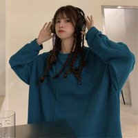 Women's T-Shirt Spring And Autumn 2021 With Solid Color Versatile Loose Fashion Ins Super Thin Sweater Female Student