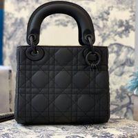Damen Elegante Tasche Mode Marke Top One-Shoulder Diamant Gitter Portable 17 * 14