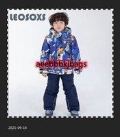 Sci Abiti da sci Leosoxs Suit da sci per bambini Boys 100-160cm Cappotto caldo inverno Sport invernali antivento addensato Bambino in cotone all'aperto