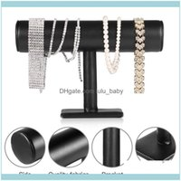 Packaging JewelryFlocking Good Handcraft Braccialetto T-Bar Rack Orologio da polso Gioielli Collana Decorazioni Display Holder Stand Sacchetti, Borse D