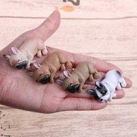 French Bulldog Sleepy Corgis Dog Toys Action Figures Landscape Decor Animals Dolls Kids Gifts PVC Model Toy