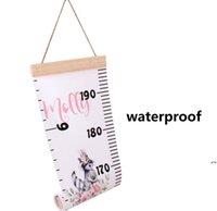 أطفال الارتفاع المخططات ins نمو الطفل الرسم البياني ارتفاع قياس للمنزل / غرف الأطفال diy الكرتون حاكم الشارات الديكور جدار DWC6967